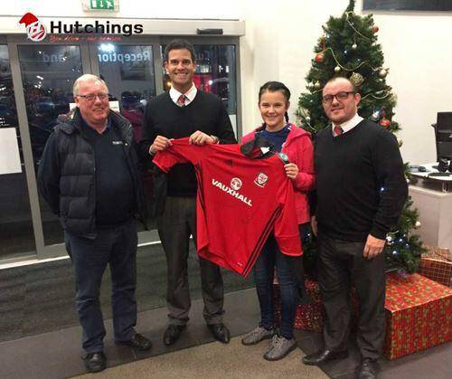 YOUNG FOOTBALL FAN SCORES SURPRISE AT HUTCHINGS PONTYPRIDD